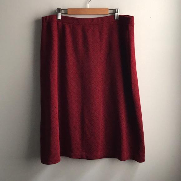 Liz Claiborne Dresses & Skirts - Liz Claiborne red black square a-line knee skirt